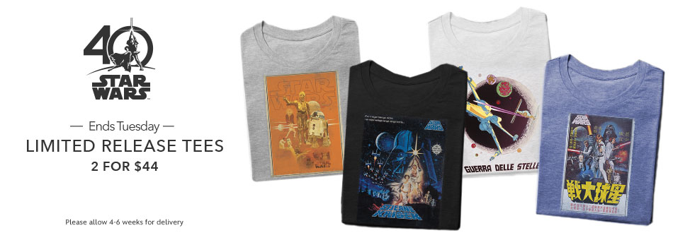 Star Wars 40th Anniversary Limited Release Tees