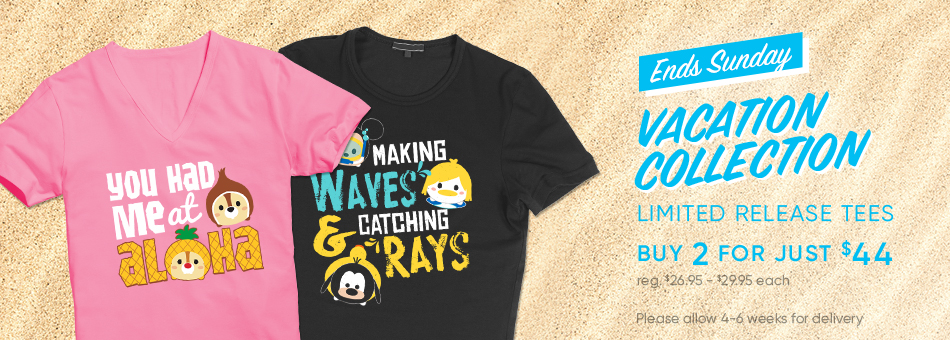 Vacation Tsum Tsum Limited Release Tees