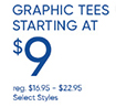 Graphic Tees for $9!