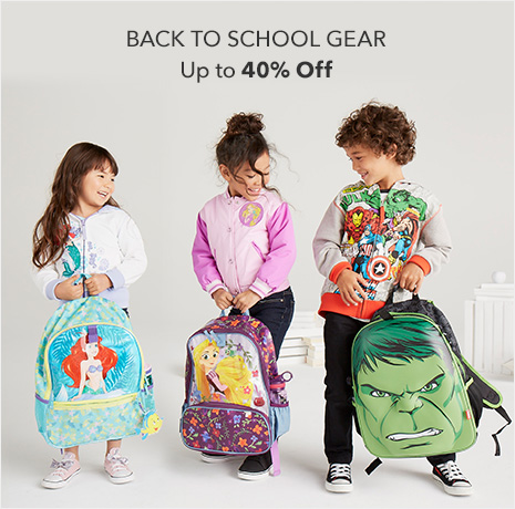 Back to School Gear - Up to 40% Off