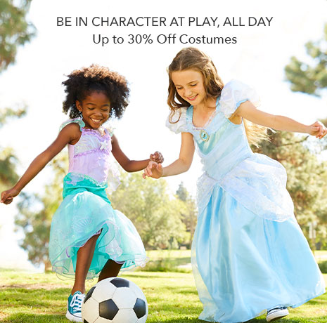 Be in Character At Play, All Day - Up to 30% Off Costumes