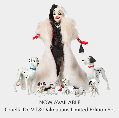 Now Available - Cruella De Vil & Dalmatians Limited Edition Set