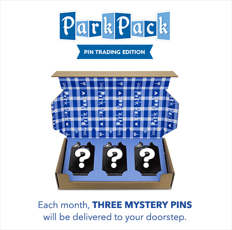 Park Pack - Pin Trading Edition - Each Month, Three Mystery Pins will be delivered to your doorstep.