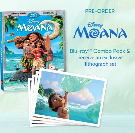 Disney Moana Shop - Pre-Order Blu-ray Combo Pack