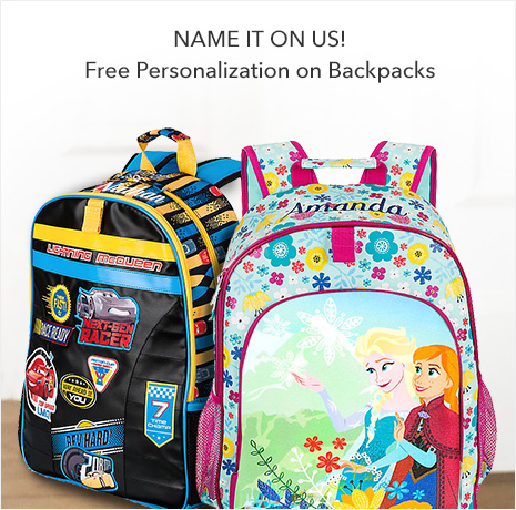 Name It on Us! - Free Personalization on Backpacks - Ends Tonight