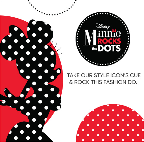 Minnie Rocks the Dots - Take our style icon's cue & rock this fashion do.