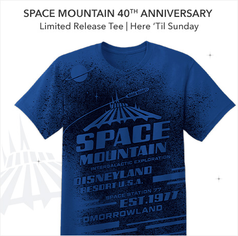 Space Mountain 40th Anniversary - Limited Release Tee - Here 'til Sunday