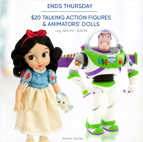 Limited Time Only - Toy Story Talking Action Figures & Animators' Dolls - $20 - reg. $24.95-$29.95