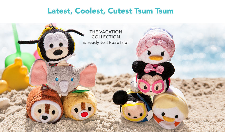 Latest, Coolest, Cutest Tsum Tsum The Vacation Collection is ready to #RoadTrip