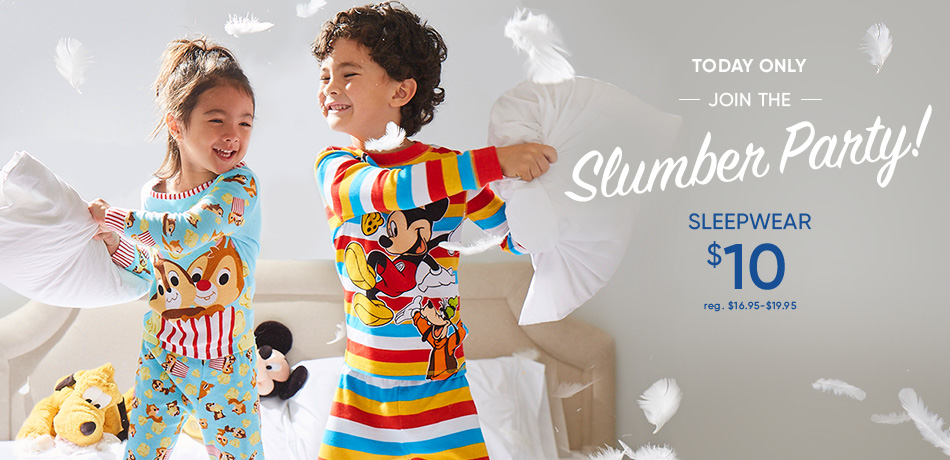 Today Only - Join the Slumber Party! - Sleepwear $10 - reg. $16.95-$19.95