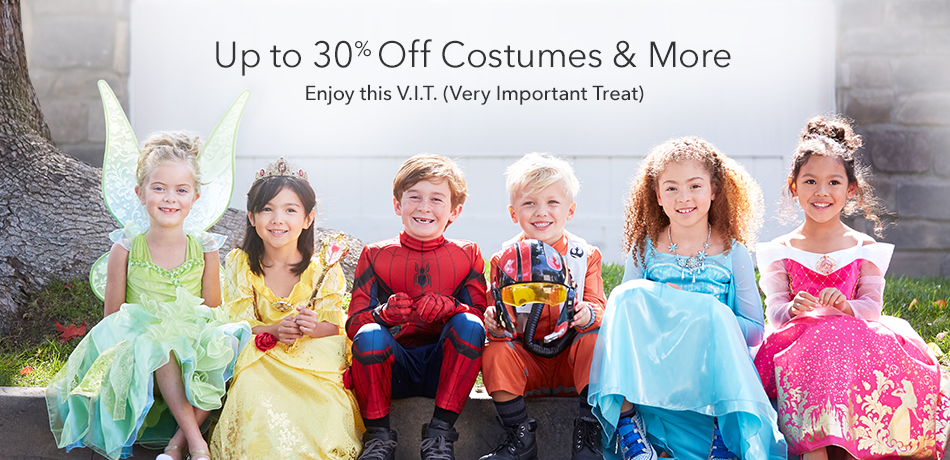 Up to 30% off costumes & more - Enjoy this VIT (Very Important Treat)