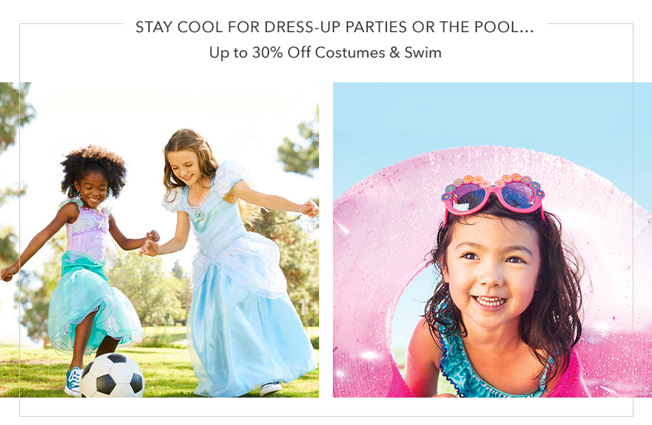 Stay Cool for Dress-Up Parties or the Pool - Up to 30% Off Costumes & Swim