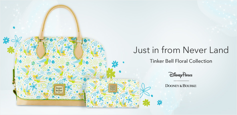 Just in from Never Land - Tinker Bell Floral Collection - Disney Parks - Dooney & Bourke