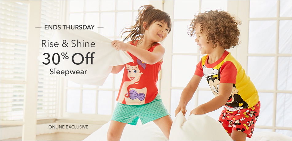 Ends Thursday - Rise & Shine in our sleepover finest - 30% Off Sleepwear - Online Exclusive