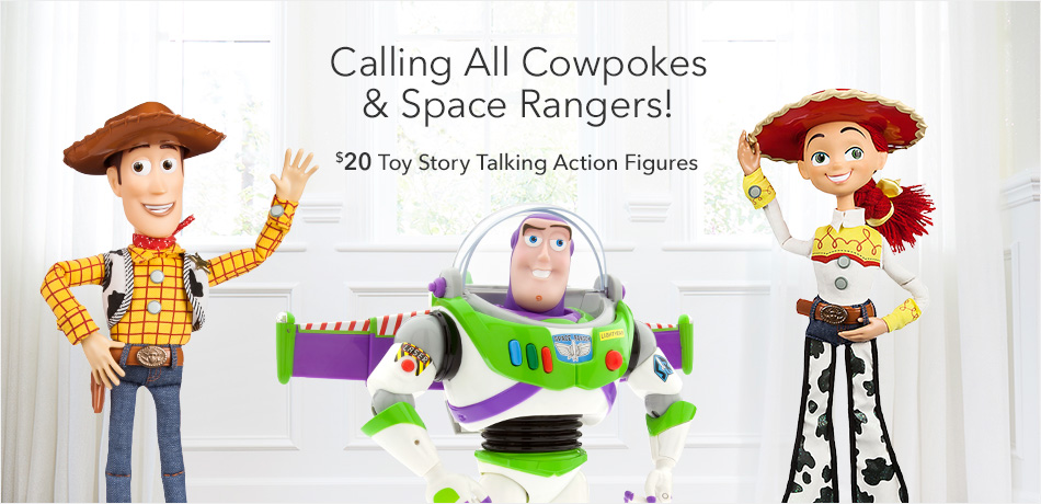 Calling All Cowpokes & Space Rangers! - $20 Toy Story Talking Action Figures