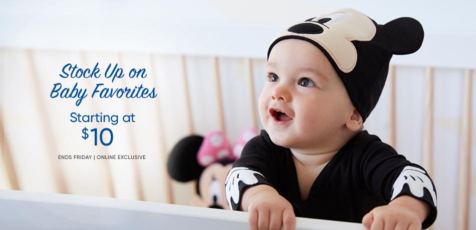 ביגוד לתינוקות החל מ-$10 בלבד ב- disneystore
