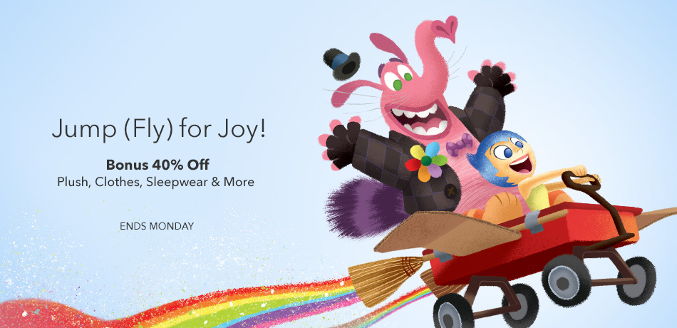 Jump for Joy - Bonus 40% off Plush, clothes, sleepwear & more - Ends Monday