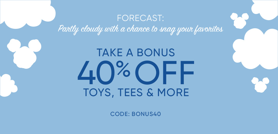 Take a Bonus 40% Off Toys, Tees & More - CODE: BONUS40