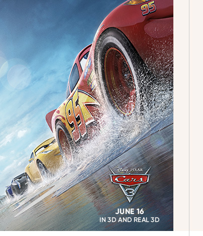 Cars 3 - June 16 in 3D and Real 3D