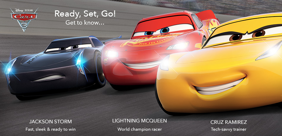 Cars 3 - Ready, Set, Go! - Get to know... Jackson Storm, Lightning McQueen, Cruz Ramirez