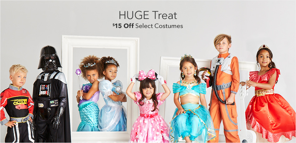 HUGE Treat - $15 Off Select Costumes