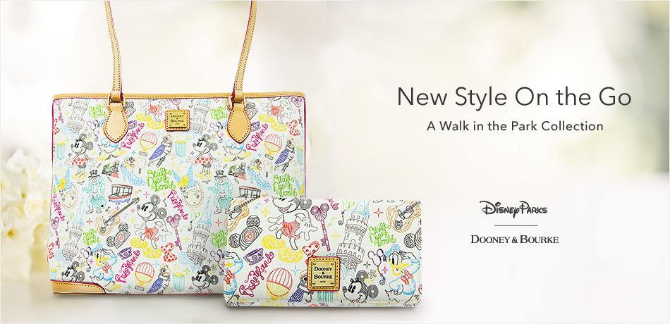 Dooney & Bourke - Disney Parks - New Style On-the-Go - A Walk in the Park Collection