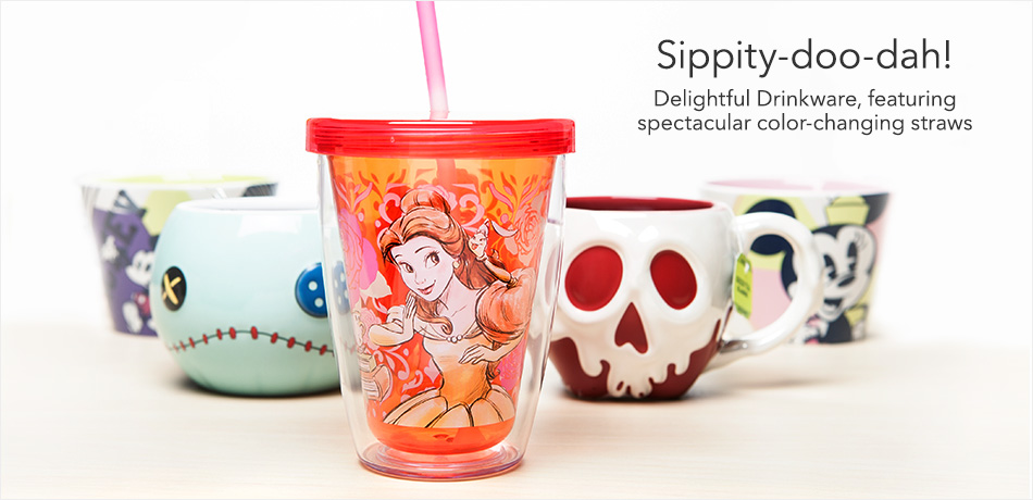 Sippity-doo-dah! Delightful Drinkware, featuring spectacular color-changing straws