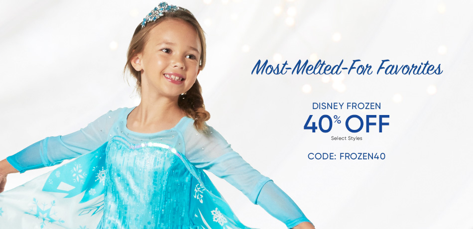 Most-Melted-For Favorites - Frozen 40% Off - Select Styles - CODE: FROZEN40
