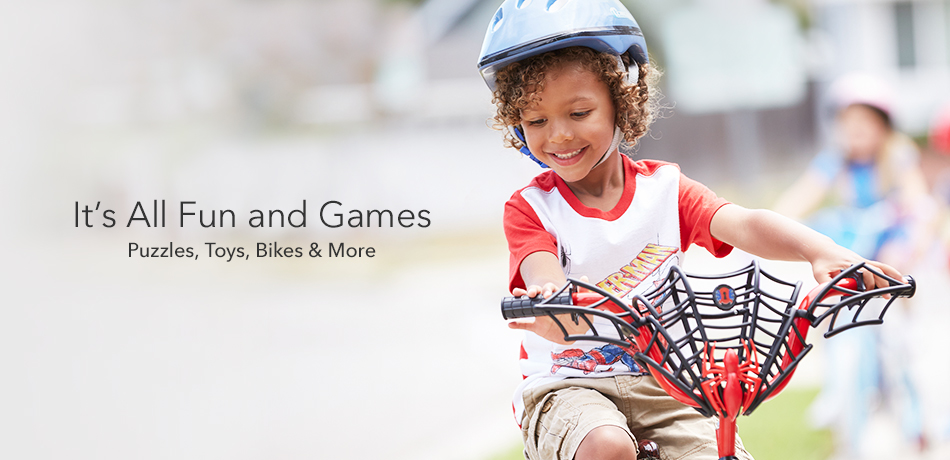 It's All Fun and Games - Puzzles, Toys, Bikes & More