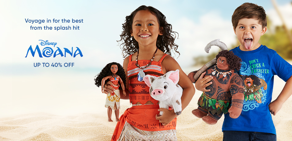 Voyage in for the best from the splash hit - Disney Moana - Up to 40% Off