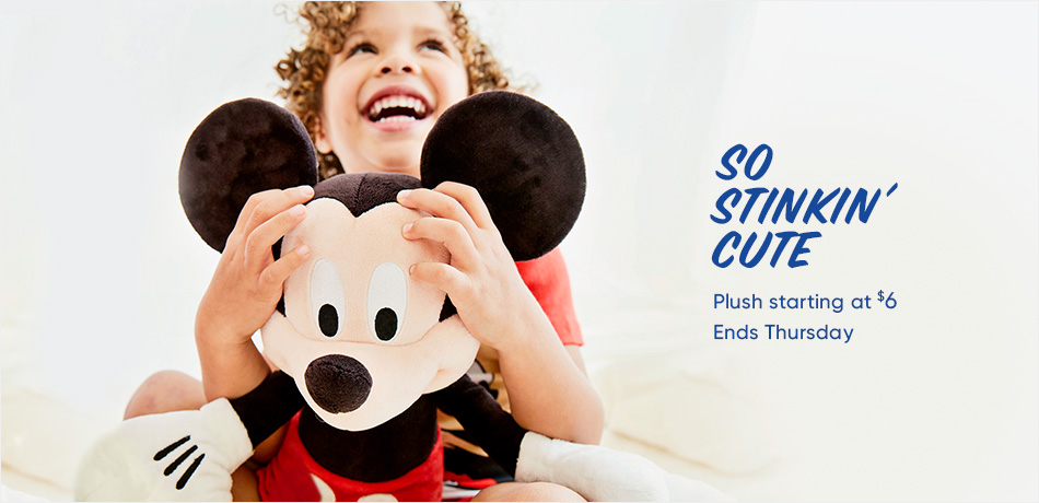 Plush Starting at $6 - Ends Thursday