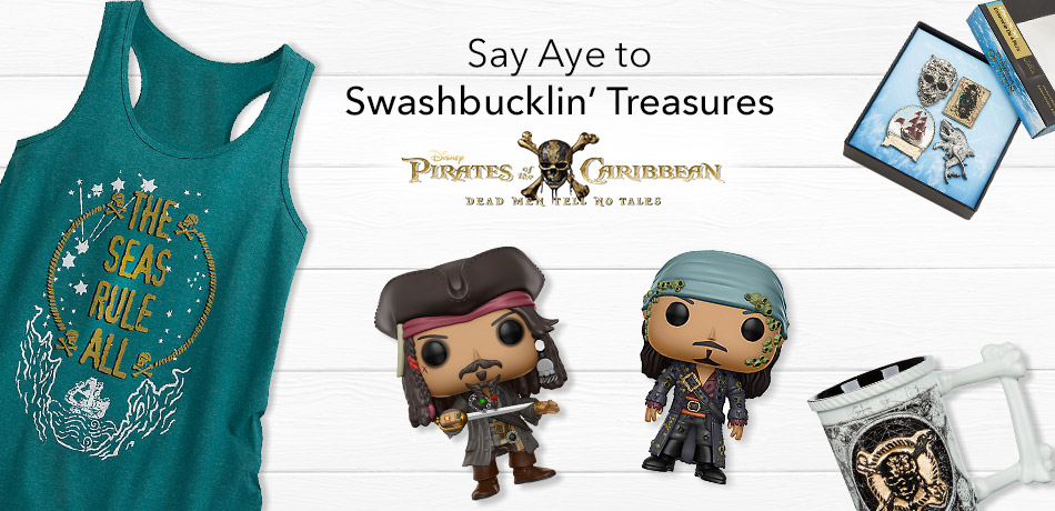 Pirates of Caribbean Dead Men Tell No Tales - Say Aye to Swashbucklin' Treasures