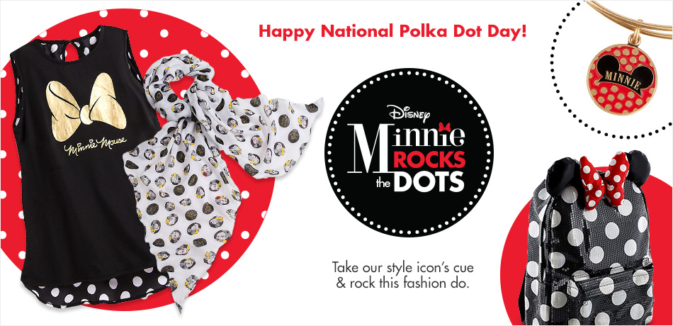Happy National Polka Dot Day! - Minnie Rocks the Dots - Take our style icon's cue & rock this fashion do.