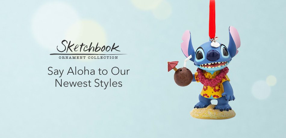 Sketchbook Ornament Collection - Say Aloha to Our Newest Styles