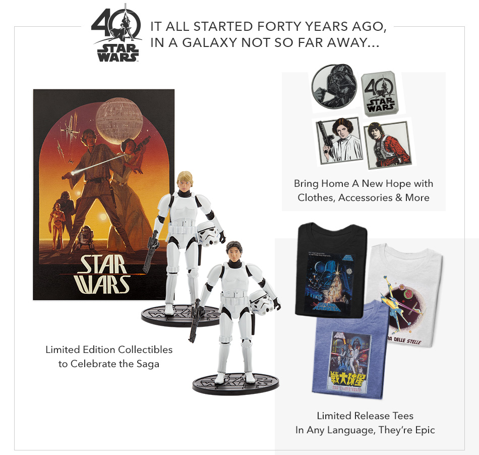 Star Wars 40th Anniversary - It All Started Forty Years Ago, in a Galaxy Not So Far Away...