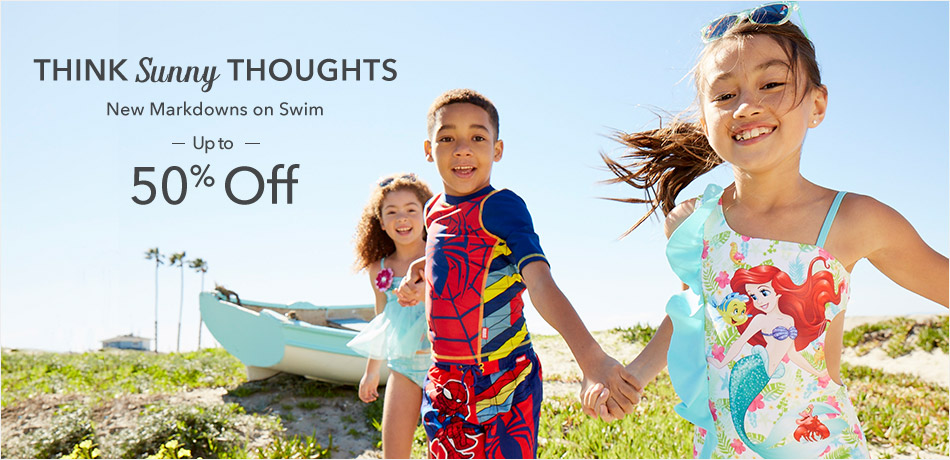 Think Sunny Thoughts - New Markdowns on Swim - Up to 50% Off