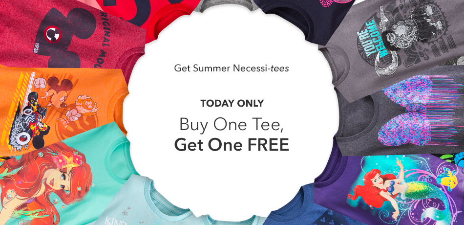 Get Summer necessi-tees - Today Only - Buy One Tee, Get One FREE - Online Exclusive