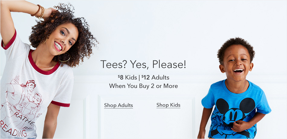 Tees? Yes, Please! - $8 Kids T-Shirts | $12 Adults T-Shirts When You Buy 2 or More