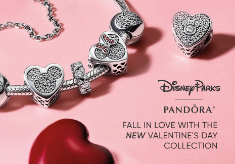 Disney Parks - Pandora - Fall in Love with the New Valentine's Day Collection