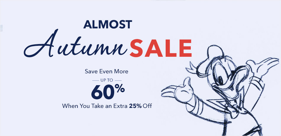 Almost Autumn Sale - Save Up to 60% Off When You Take an Extra 25% Off - CODE: EXTRA25