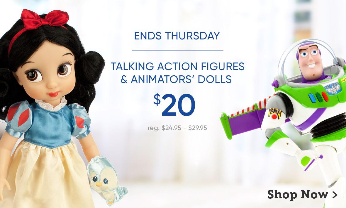 $20 Talking Action Figures and Animators' Dolls
