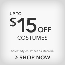 Up to $15 Off Costumes