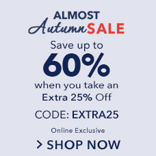 Extra 25% Off  Fall Sale CODE: EXTRA25