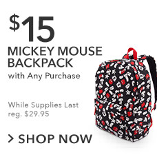 $15 Mickey Mouse Backpack with Any Purchase