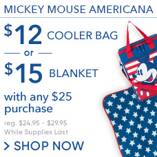 $12 Americana Cooler Bag & $15 Americana Blanket with Any $25 Purchase