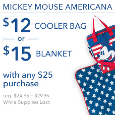 $12 Americana Cooler Bag or $15 Americana Blanket with Any $25 Purchase