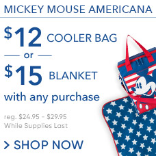 $12 Americana Cooler Bag & $15 Americana Blanket with Any Purchase