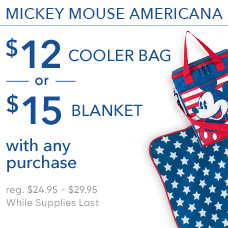 $12 Americana Cooler Bag or $15 Americana Blanket with Any Purchase