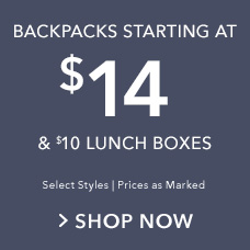 Backpacks Starting at $14 & $10 Lunch Boxes