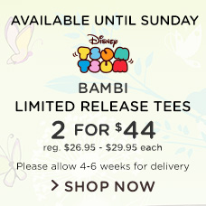 Bambi Tsum Tsum Limited Release Tees
